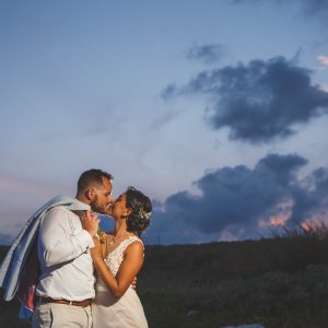 Kiss on the sunset